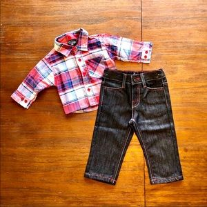 King Maker Button Up & Jeans Outfit